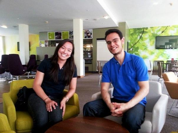 Mariana e Fabricio conversaram com o blog BrummieBR em um dos cafés do campus - Foto: Melissa Becker