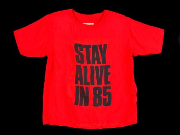 Silk T-shirt, designed by Katherine Hamnett, 1984 (c) Victoria and Albert Museum, London